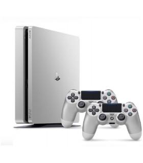 کنسول بازی سونی پلی استیشن PS4 Slim نقره ای - ظرفیت 500 گیگابایت باندل دو دسته - R2 - 2016A