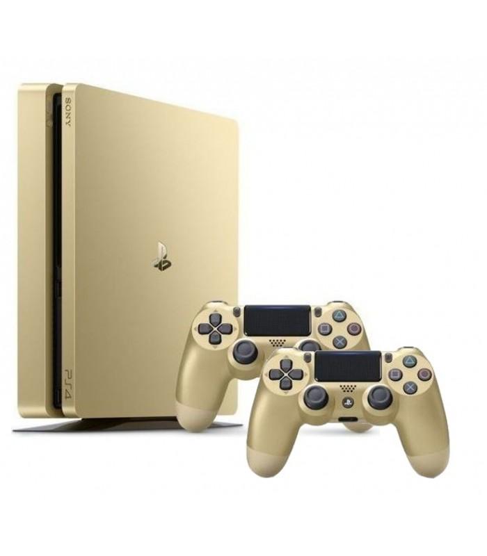 کنسول بازی سونی پلی استیشن PS4 Slim طلایی - ظرفیت 500 گیگابایت باندل دو دسته | R2 | 2016A