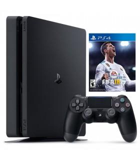 کنسول بازی سونی پلی استیشن PS4 Slim - ظرفیت 500 گیگابایت - R2 - 2116B - همراه بازی FIFA 18