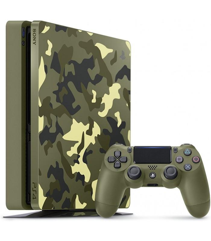کنسول بازی سونی پلی استیشن PS4 Slim - ظرفیت 1 ترابایت باندل Call Of Duty WWII